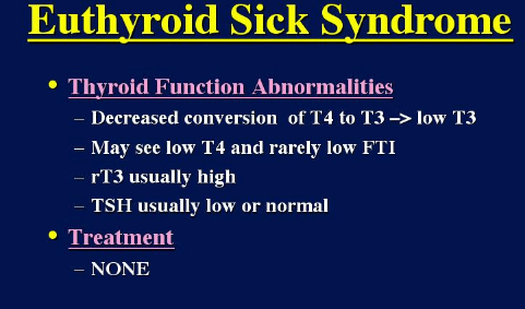 Euthyroid Sick Syndrome Picture 1